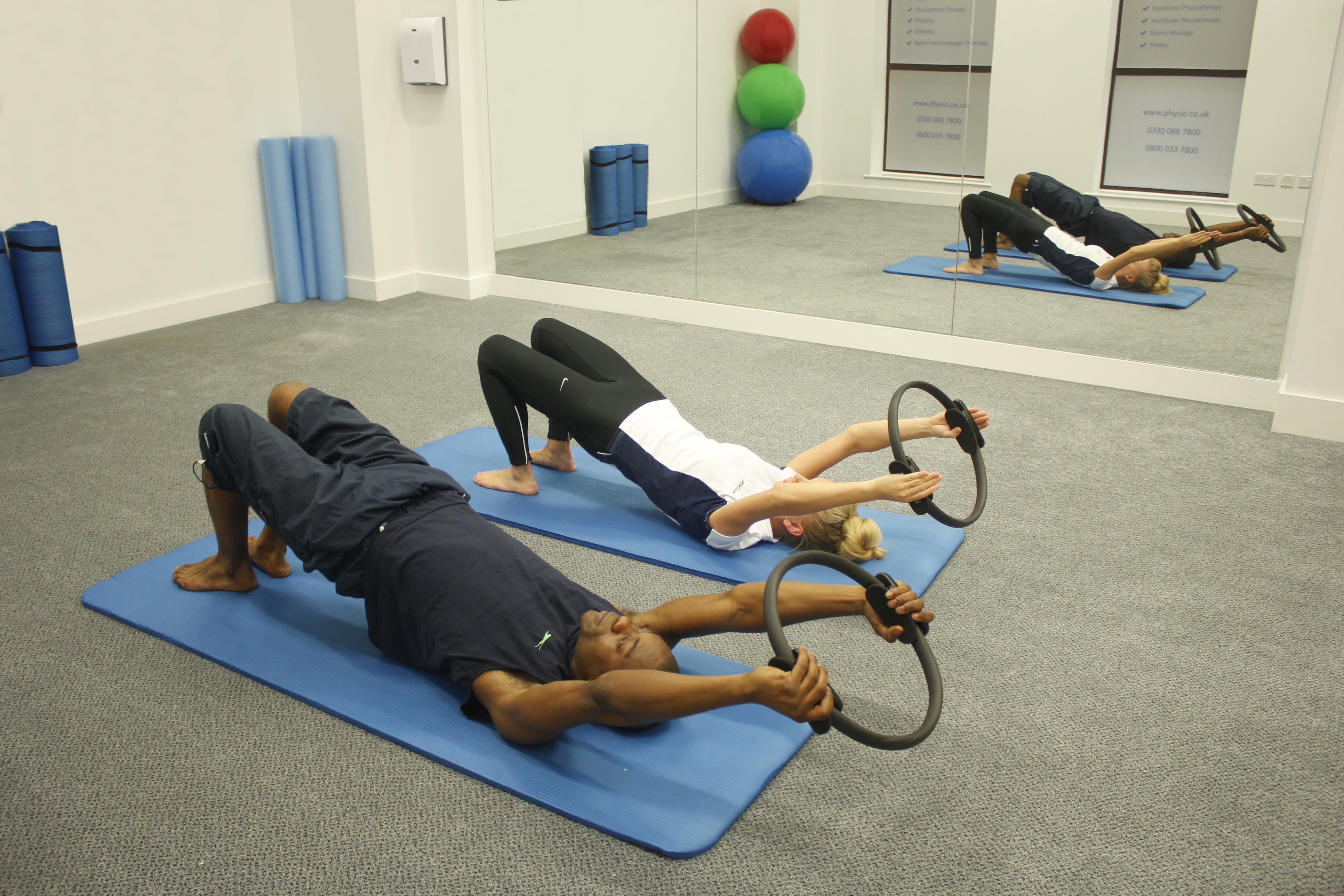 Group pilates group session at minshull street clinic