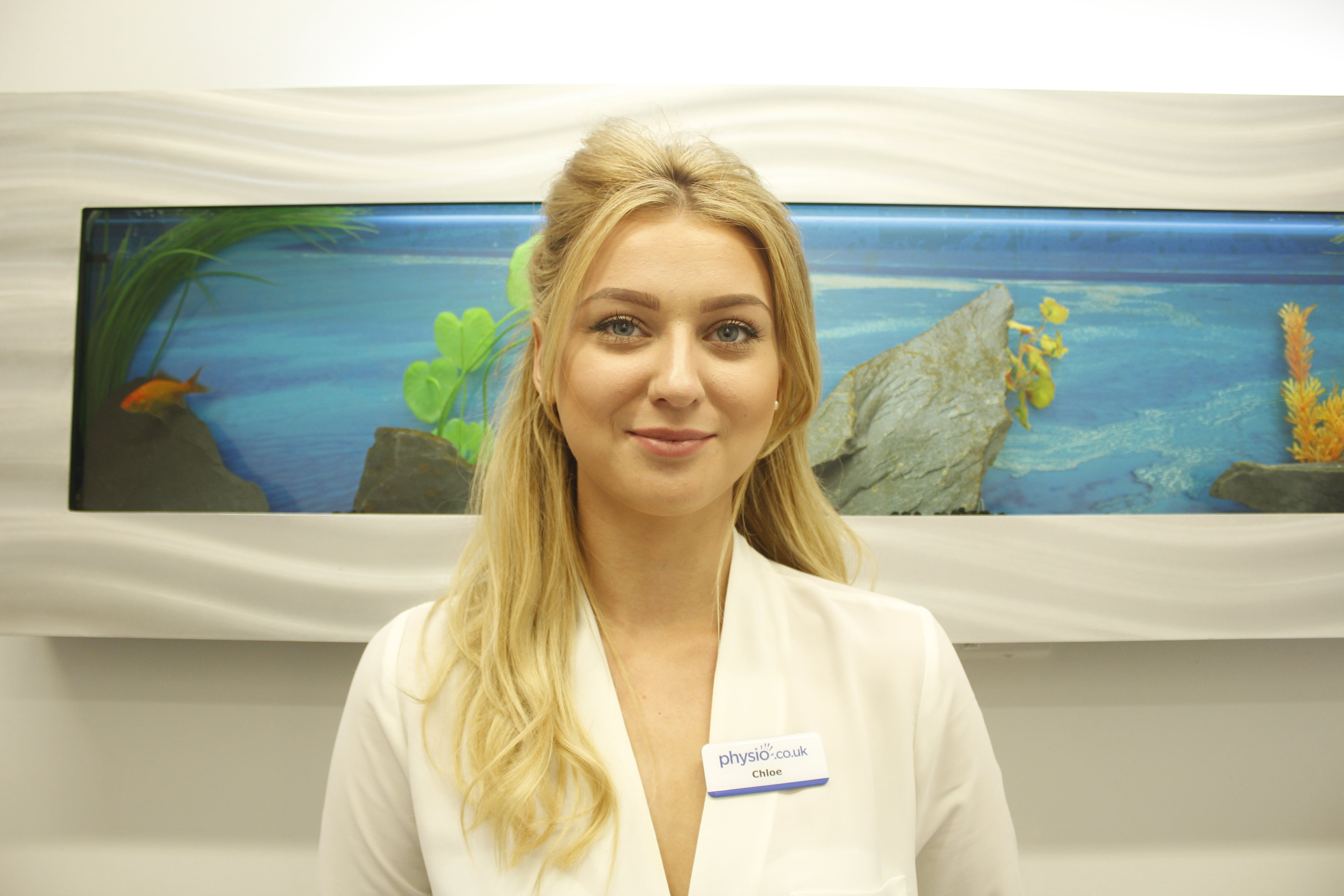 Tameside Physiotherapy Receptionist smiling