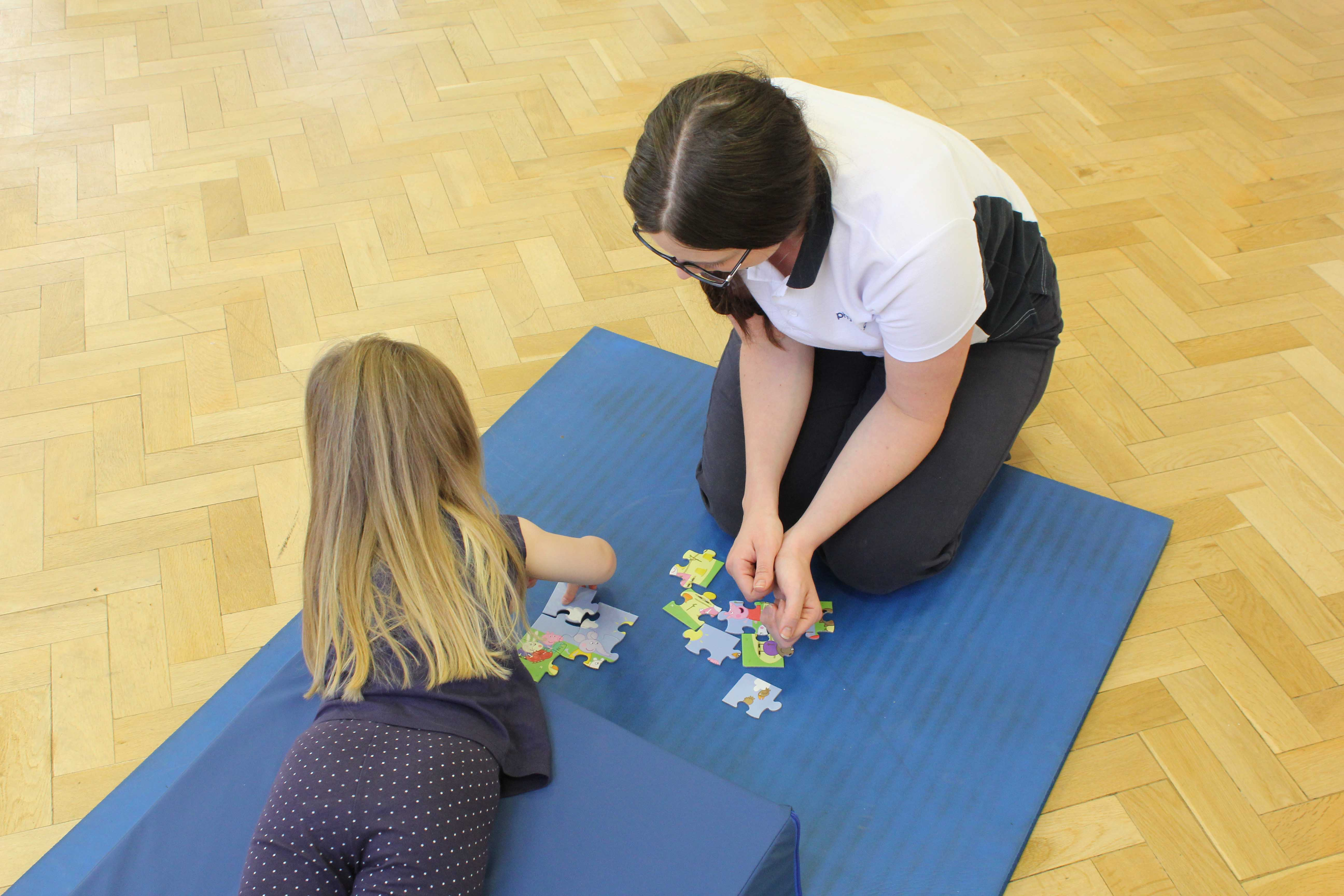 Treatment session can help evelop your childs gross and fine motor skills.