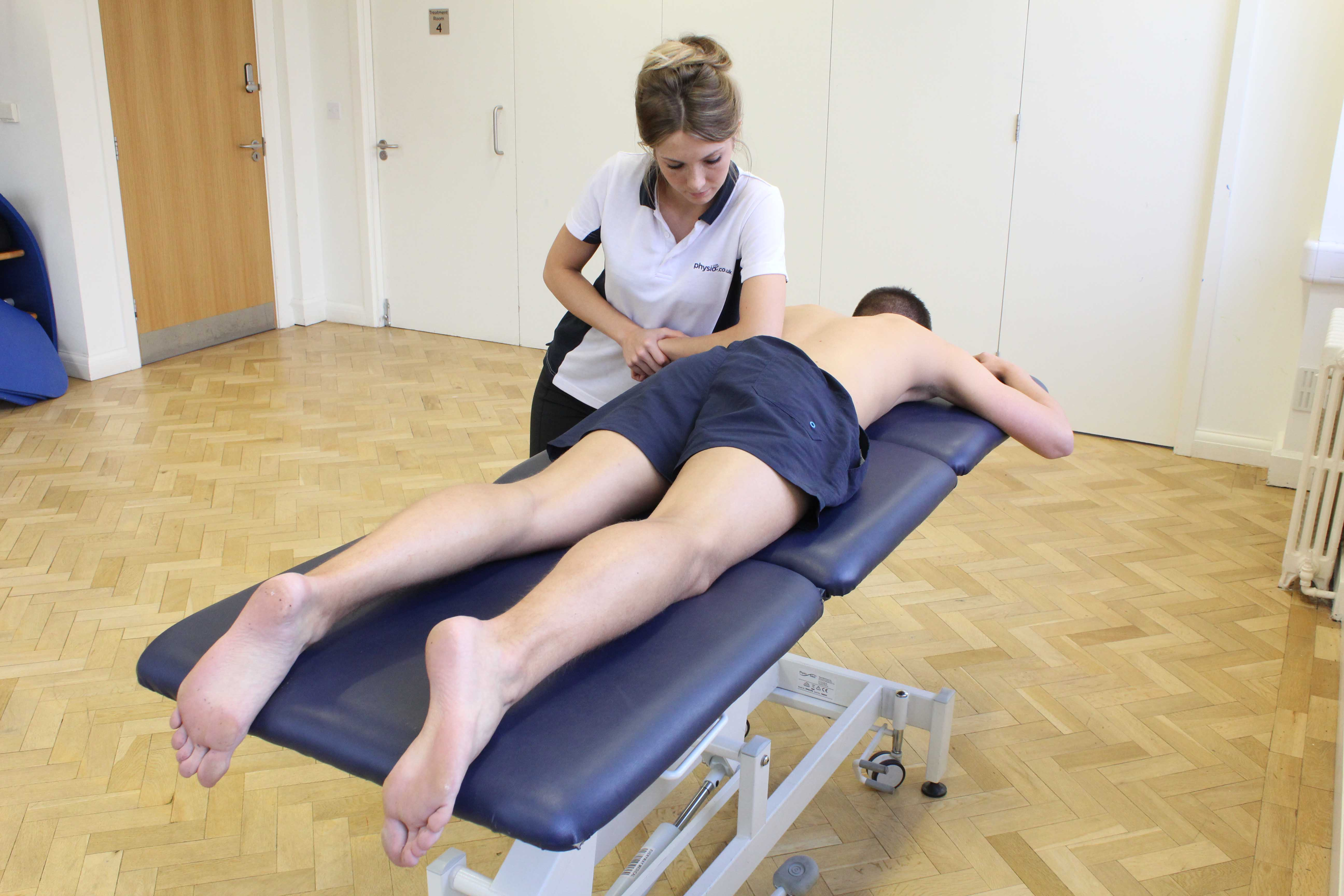 Deep tissue massage to address coccdynia