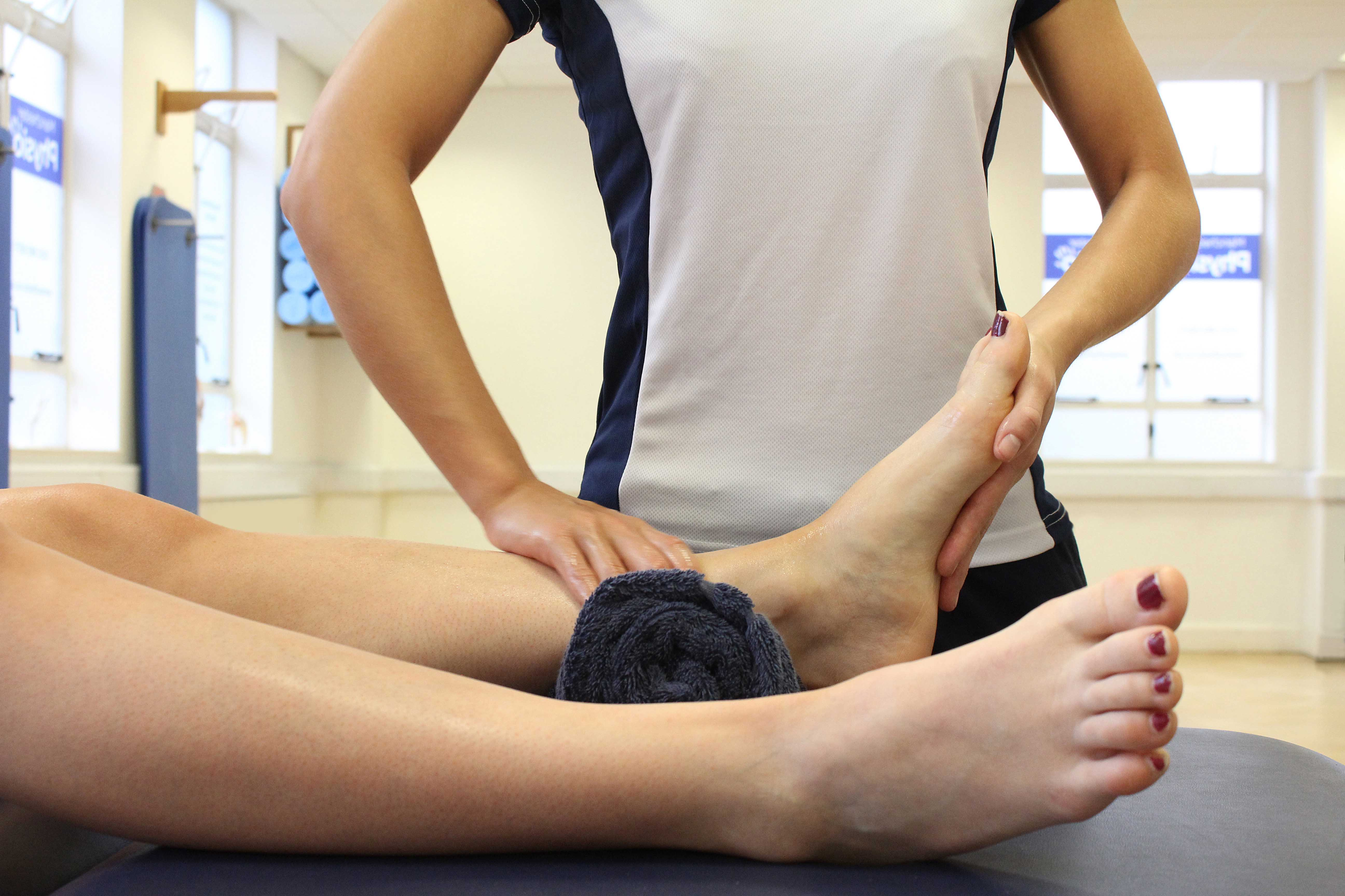 Mobilisations and stretches of the foot and ankle by specialised therapist