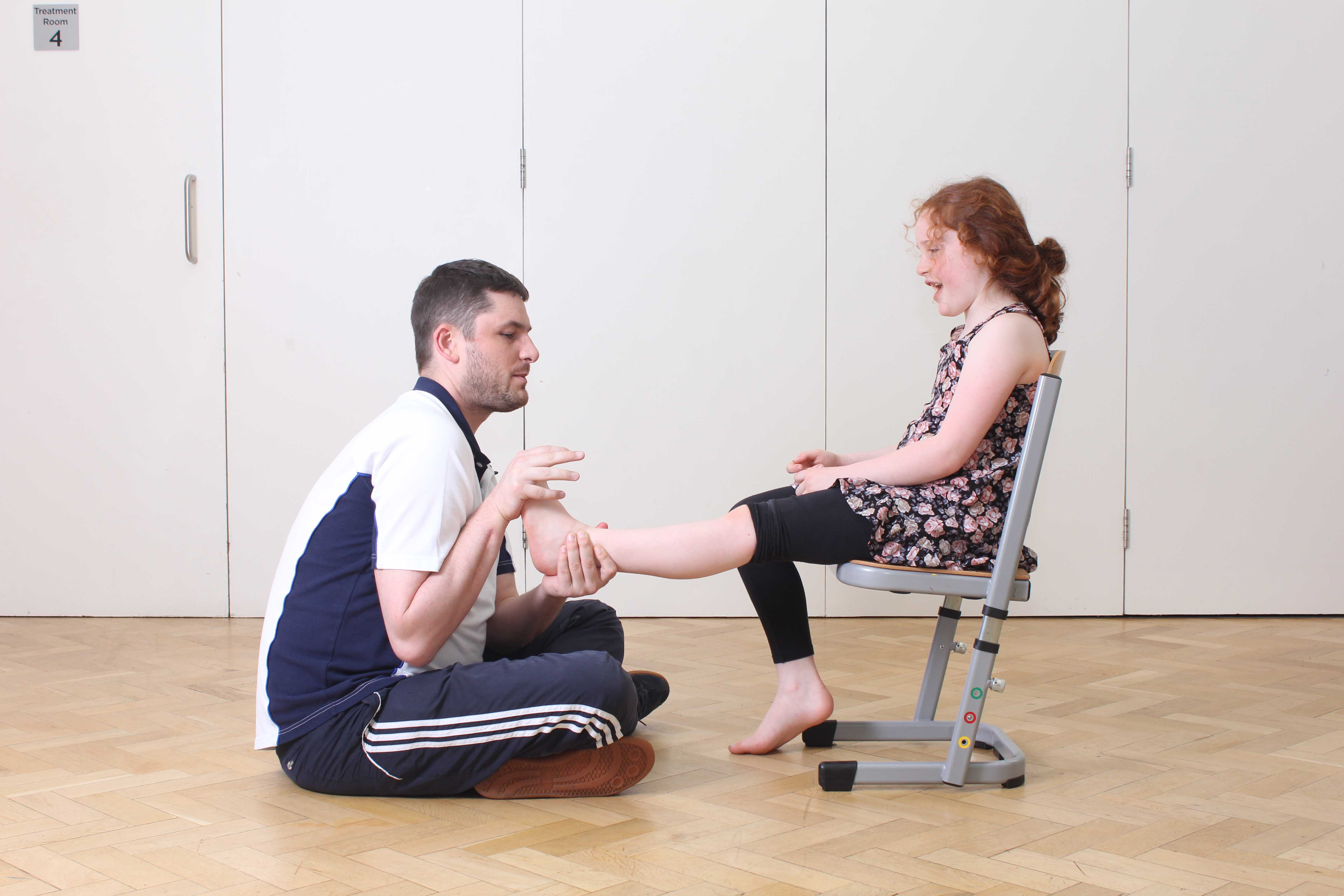 Following a long period of time in a cast after a fracture, your child may require passive stretching techniques to engable them to get their range of motion back.