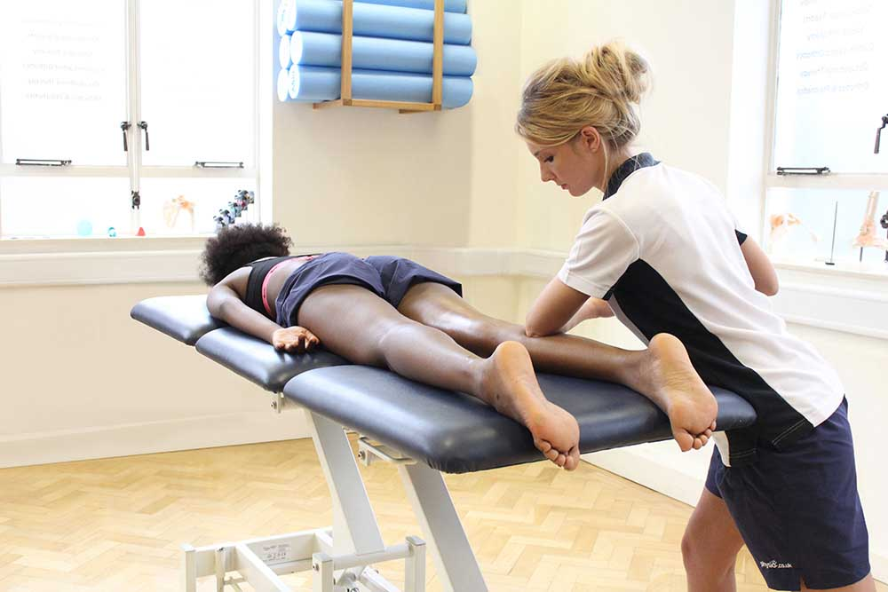 Soft tissue massage of gastrocnemius and soleus muscle