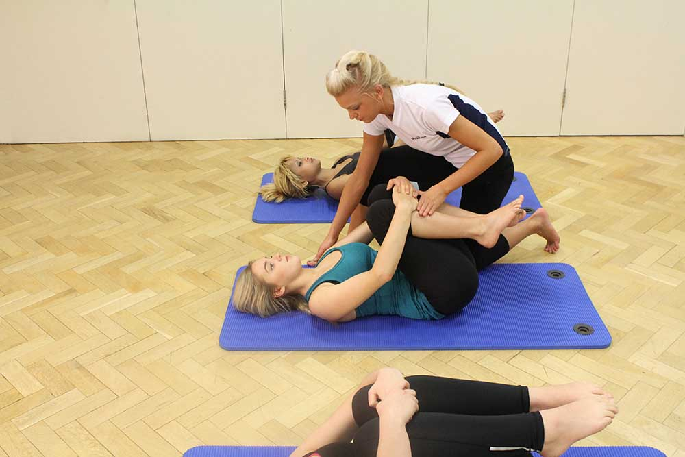 Physiotherapist led pilates class