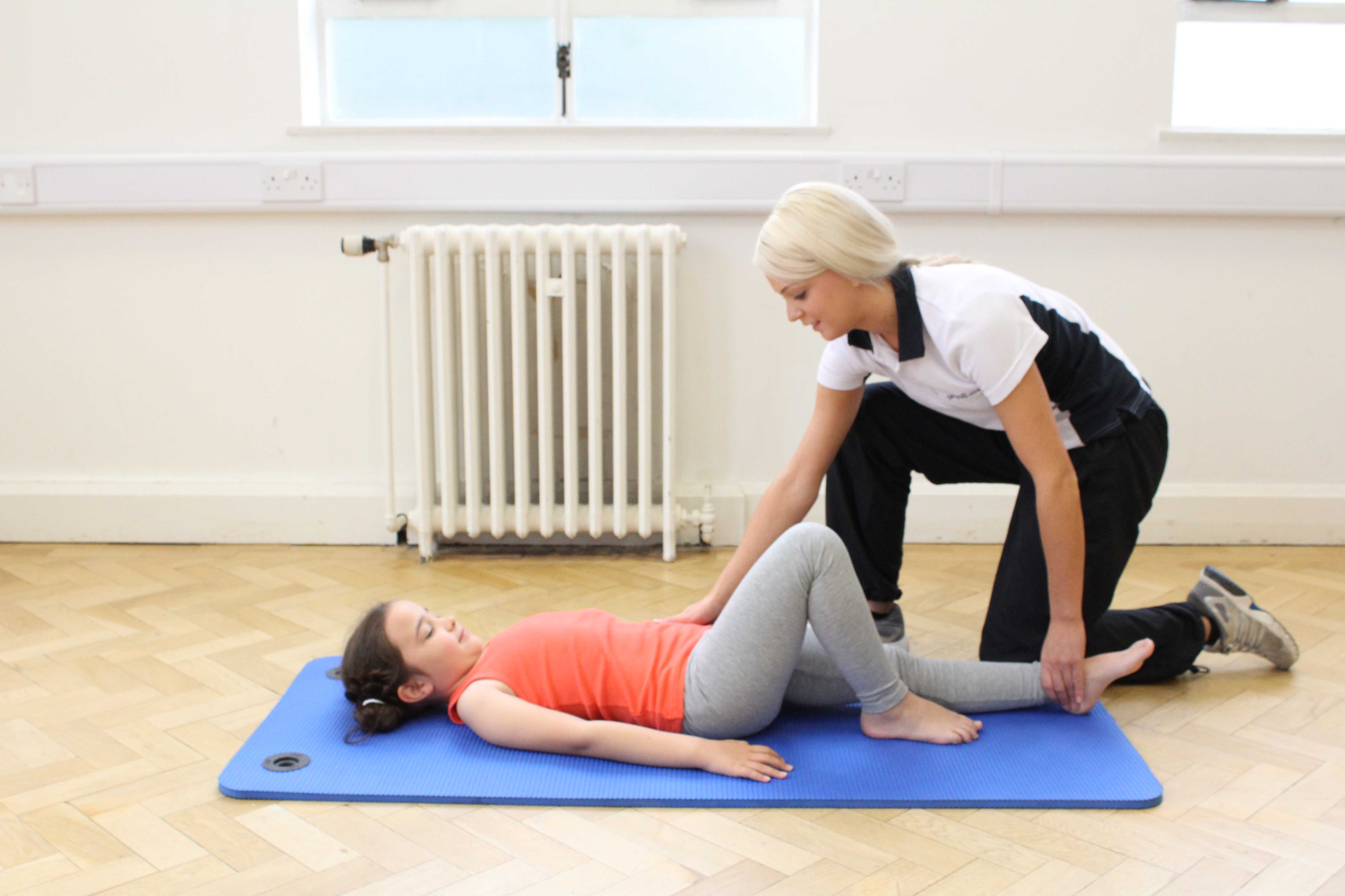 Passive stretches and mobilisations to relieve pain and stiffness