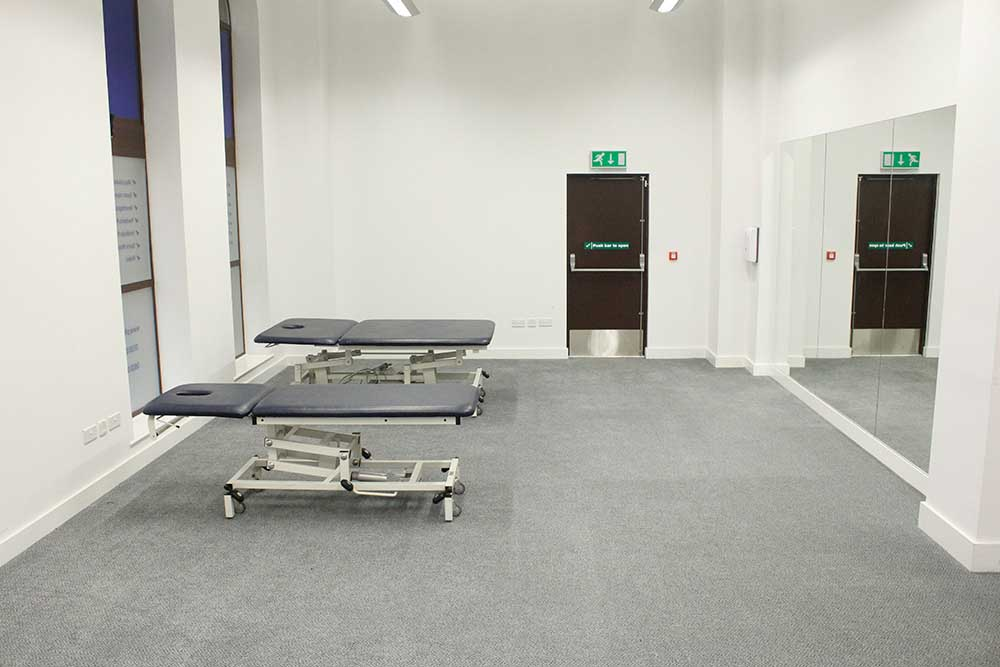 Spacious, well equipped gym in our Minshull Street clinic