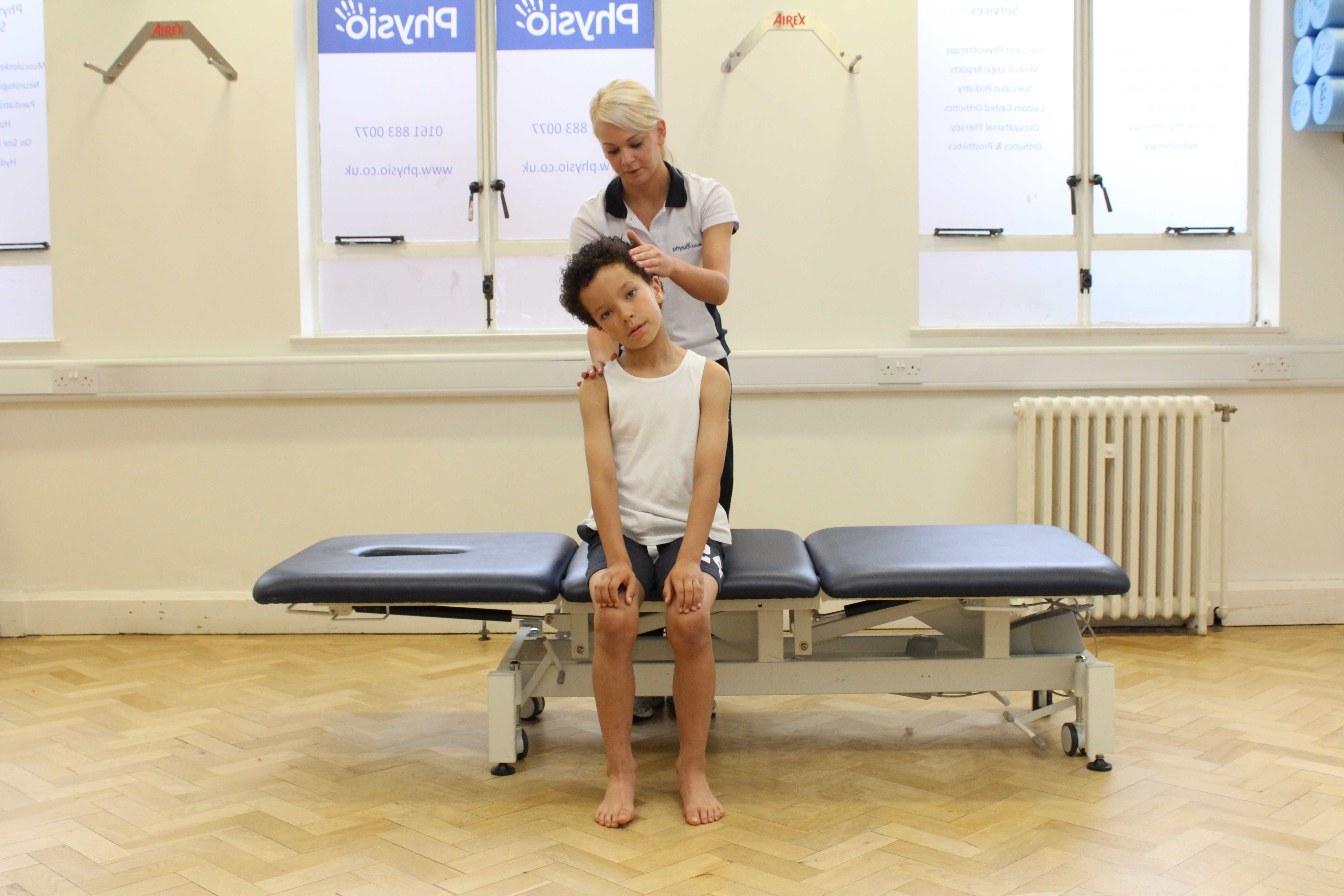 Even from a young age, it is important to have correct posture to prevent neck pain.