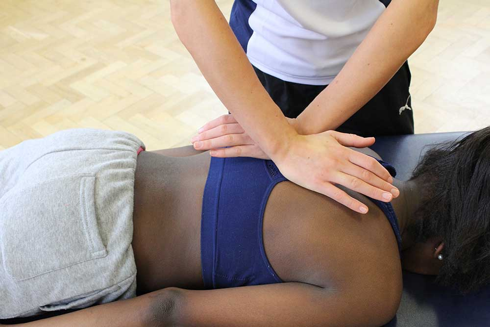 Mobilisations and deep tissue massage to relieve pain and stiffness