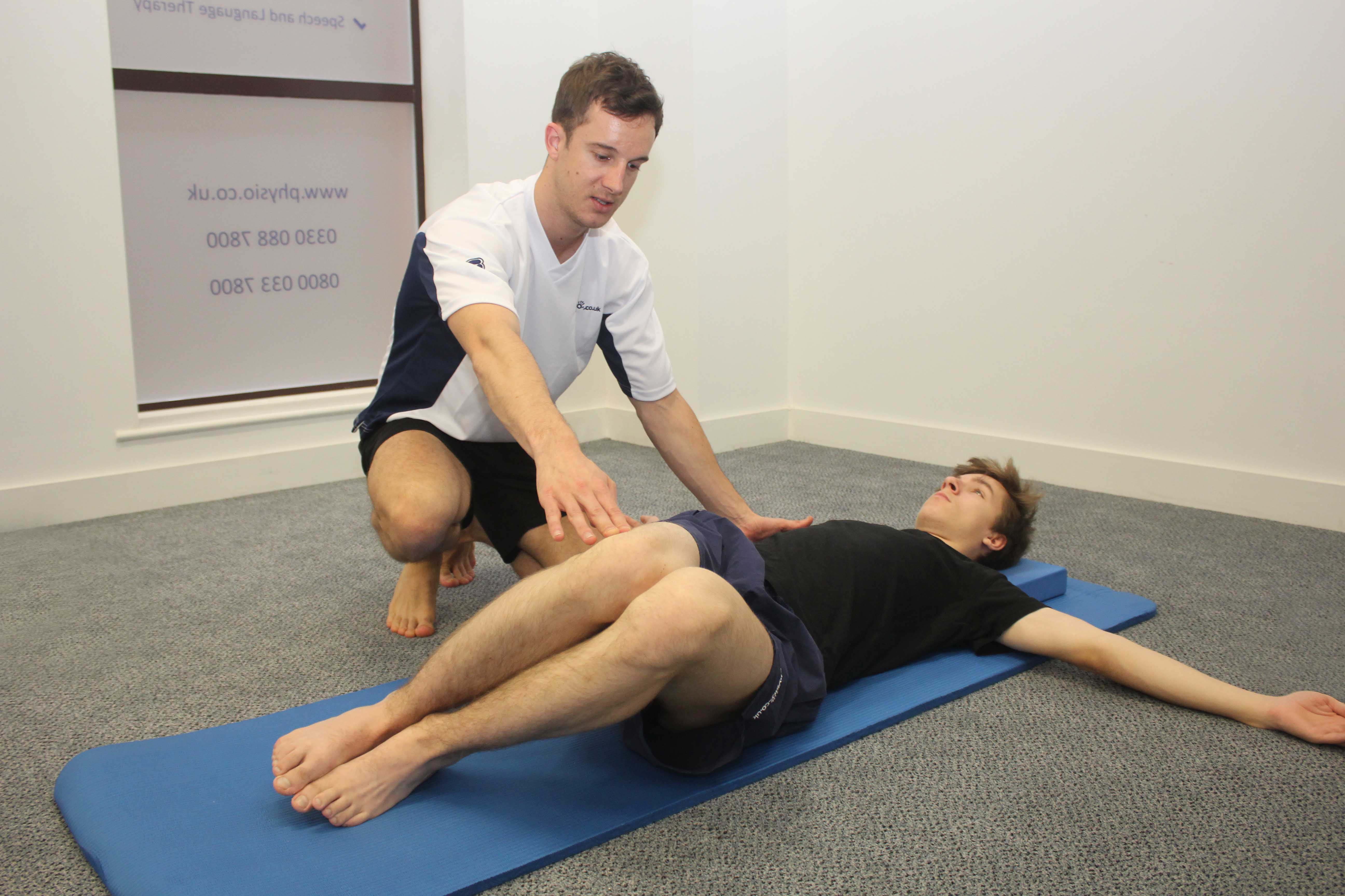 Soft tissue massage applied to the chest by an experienced therapist