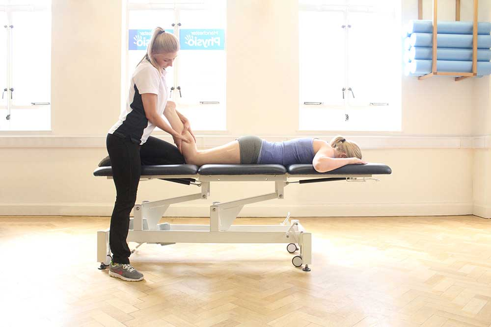 Sports Massage focused on gastrocnemius and soleus muscles