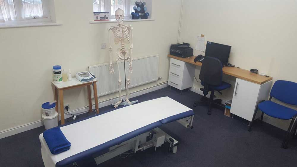 Large well equiped treatment room at our Tameside clinic