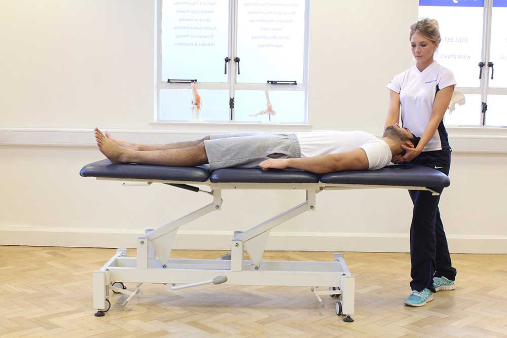 Vestibular rehabilitation exercies carried out by a specilaist therapist